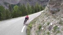 Descente en vélo du Col d'Izoard filmé à la GoPro - Etape 14 du Tour de France 2014