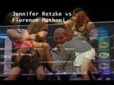 Boxing Fight Jennifer Retzke vs Florence Muthoni