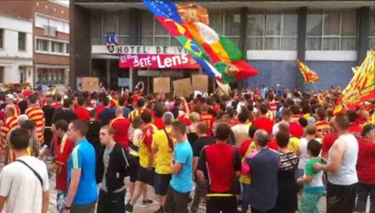 La manifestation des supporters lensois