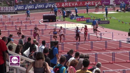 Finale 100 m haies Cadettes