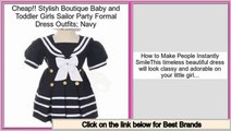 Review Price Stylish Boutique Baby and Toddler Girls Sailor Party Formal Dress Outfits; Navy