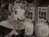 VINTAGE 60's BORDEN'S EGG NOG AD ~ ELSIE PROMOTING A CONCOCTION OF CHICKEN & COW PRODUCTS EGG NOG