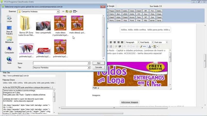 Anunciar gratis Programa PCG anuncia automaticamente em sites de classificados grátis! | Godialy.com