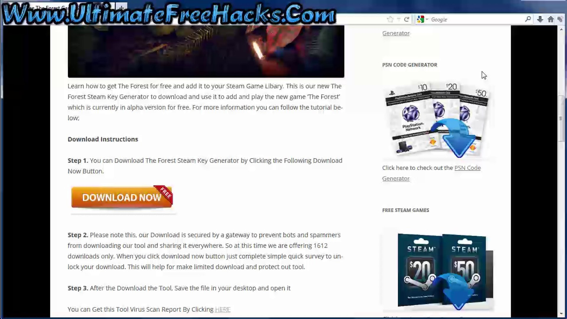 Download The Forest Keygen Free on Steam - Tutorial