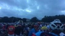 Sas de départ etape du tour 2014 Pau hautacam