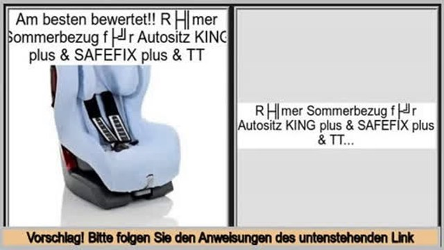 Online Shopping Römer Sommerbezug für Autositz KING plus & SAFEFIX plus & TT