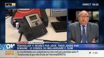 """L'Éco du soir: Rythme de travail: """"3 jours par semaine suffisent"""", Carlos Slim - 21/07"""