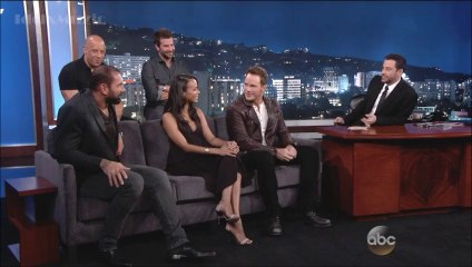 Cast Of Guardians Of The Galaxy - Jimmy Kimmel