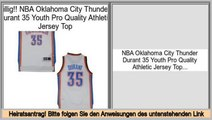 kosteng�nstig NBA Oklahoma City Thunder Durant 35 Youth Pro Quality Athletic Jersey Top