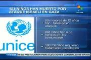 Ejército israelí ha asesinado 121 niños palestinos
