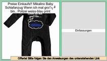 Schn�ppchen Mikalino Baby Schlafanzug Wenn ich mal gro� bin.. Polizei weiss-blau print