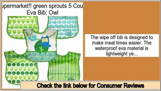 Comparison Shopping green sprouts 5 Count Eva Bib; Owl