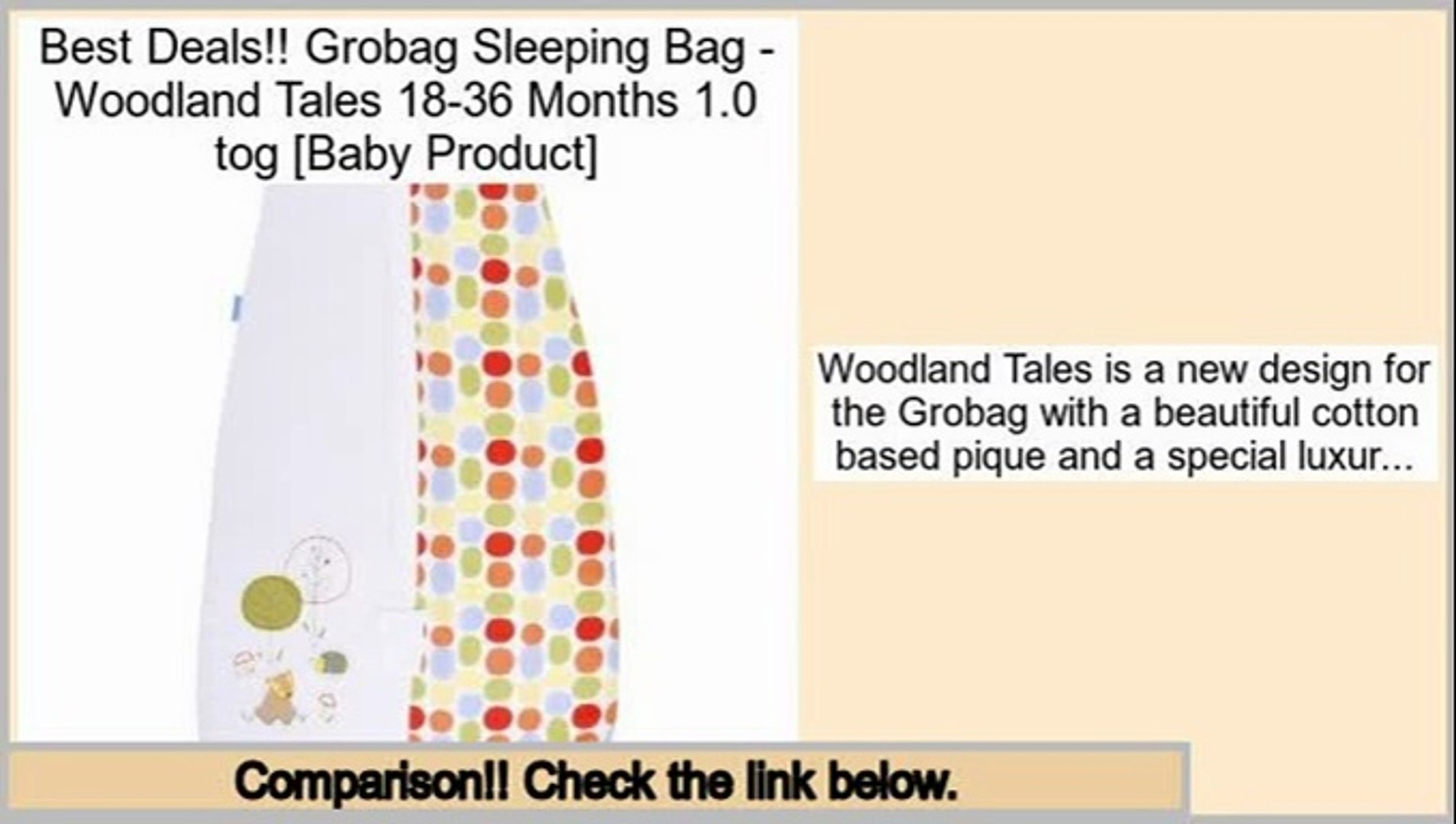 Comparison Grobag Sleeping Bag