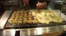 Takoyaki! Japanese street food, how to make! Demo in Shibuya, Tokyo,  Japan!
