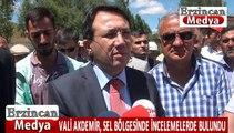 Erzincan Valisi Abdurrahman Akdemir Sel Bölgesinde incelemelerde bulundu