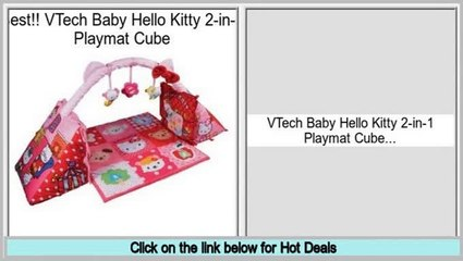 Best Brands VTech Baby Hello Kitty 2-in-1 Playmat Cube 62bd74830b813