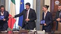 Roma - Palazzo Chigi: Renzi riceve Sara Errani e Roberta Vinci (22.07.14)