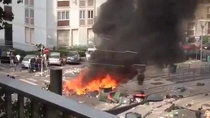 Témoins BFMTV : Incendies lors des manifestations de Sarcelles