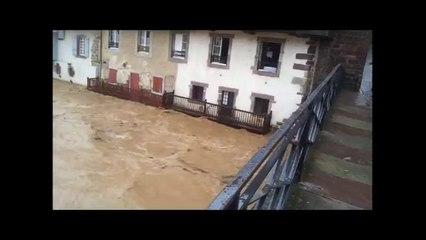Témoins BFMTV : Inondations torrentielles à Saint-Jean-Pied-de-Port