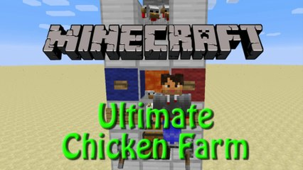 Minecraft: Ulitimate Chicken Farm 1.8, Tutorial Eggs, Raw / Cooked Chicken and Feathers