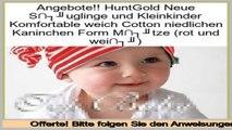 G�nstigstes HuntGold Neue S�uglinge und Kleinkinder Komfortable weich Cotton niedlichen Kaninchen Form M�tze (rot und wei�)