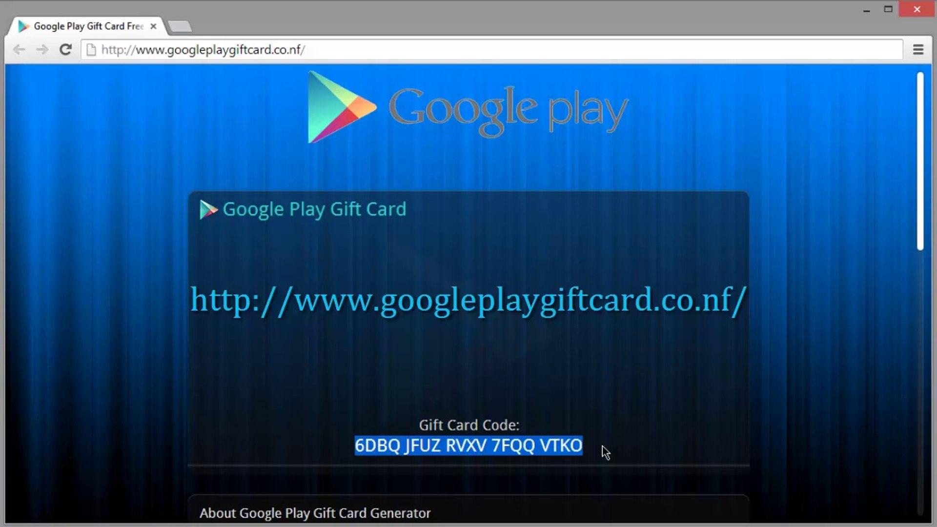 38f34952d0 Google Play Carte Cadeau Générateur De Code