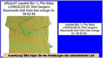 Schn�ppchen casafeli Bio �ko Baby LONGSLEEVE Shirt langarm Baumwolle kbA Gots kiwi orange Gr. 56 62 68