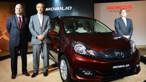 Honda Mobilio Launched In India | TAKE A LOOK !Honda Mobilio officially launched in India for a starting price of Rs 6.49 lakh for petrol variant, and Rs 7.89 lakh for diesel variant.  As available in four variants, the sporty Mobilio RS will arrive here