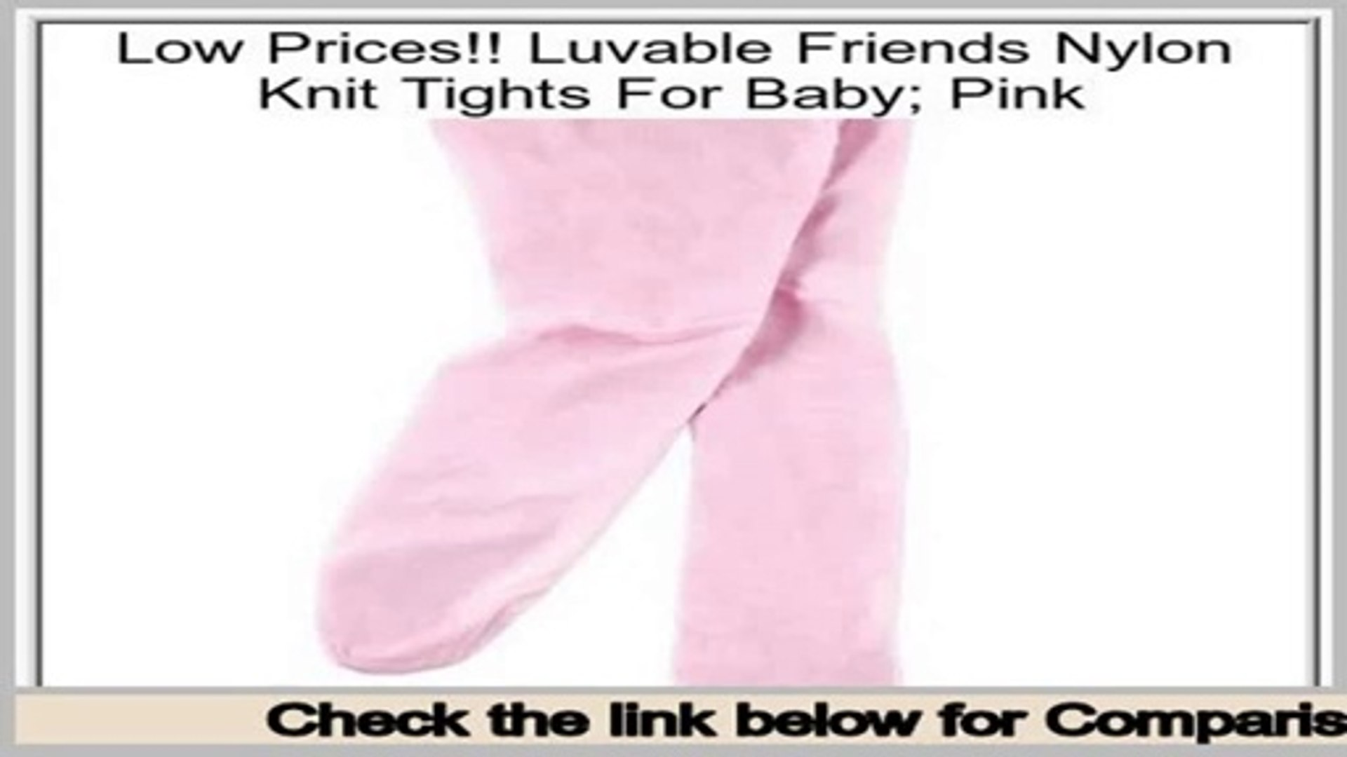 Luvable Friends Girls Nylon Knit Tights for Baby Pink
