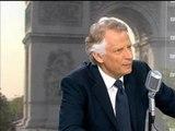 """Proche-Orient, Villepin demande le """"déploiement de Casques bleus"""" en Palestine - 24/07"""