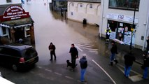 Weather Share Video 3 Flooding at Brightlingsea Harbour Essex Today