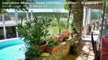 A louer - Maison/villa - Uzes (30700) - 8 pièces - 250m²