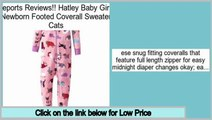 Big Deal Hatley Baby Girls Newborn Footed Coverall Sweater Cats