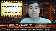 Seattle Mariners vs. Baltimore Orioles Pick Prediction MLB Odds Preview 7-24-2014