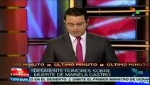 Falso el rumor de la muerte de Mariela Castro en accidente aéreo