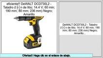 ofertas DeWALT DCD730L2 - Taladro (Ión de litio; 14.4 V; 60 min; 190 mm; 80 mm; 236 mm) Negro; Amarillo