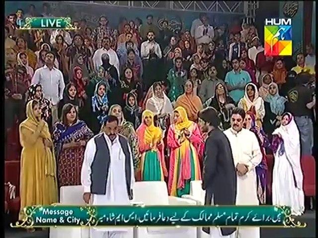Talk of Ahsan Khan with Atizaz Hassan Father at Jashn e Ramzan live 25  Iftar Tr