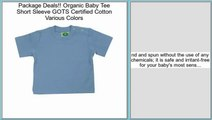 Best Price Organic Baby Tee Short Sleeve GOTS Certified Cotton Various Colors