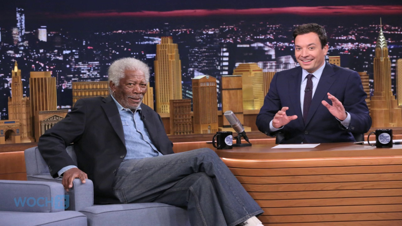Morgan Freeman Sucks Helium With Jimmy Fallon, Talks New Beekeeping Habit