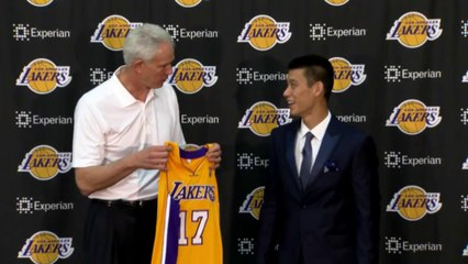 Lakers' Jeremy Lin Introduction - (July 25 - 2014)