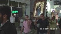 Kάθοδος Ιεράς εικόνας Αγίας Παρασκευής στους Μολάους (25-07-2014)