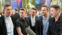 Collabro check out the Guardians of the Galaxy premiere