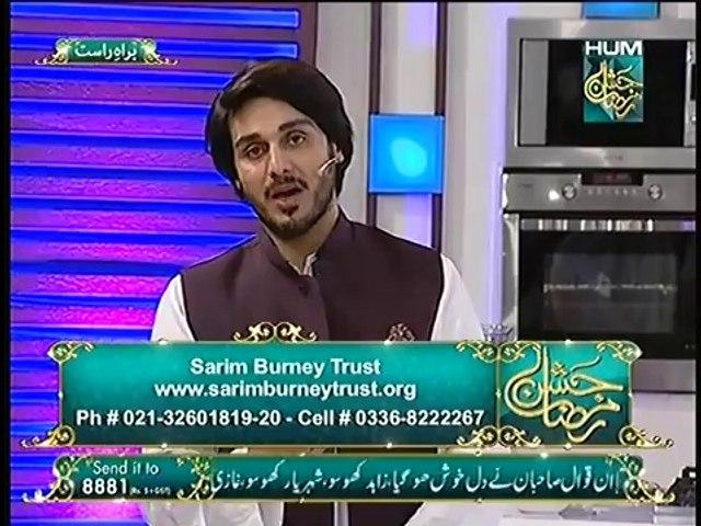 Zindagi ke Pehlu at  Jashn e Ramazan Live 26 Iftar Transmission Hum TV Show