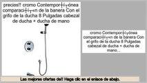 ofertas cromo Contemporš¢nea comparaciš®n de la banera Con el grifo de la ducha 8 Pulgadas cabezal de ducha + ducha de mano