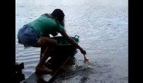Piranha Fishing Using Raw Meat - Catching Piranhas