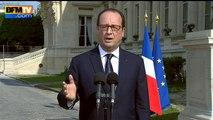 """Crash au Mali: François Hollande assure que """"tous les corps seront ramenés en France"""" - 26/07"""