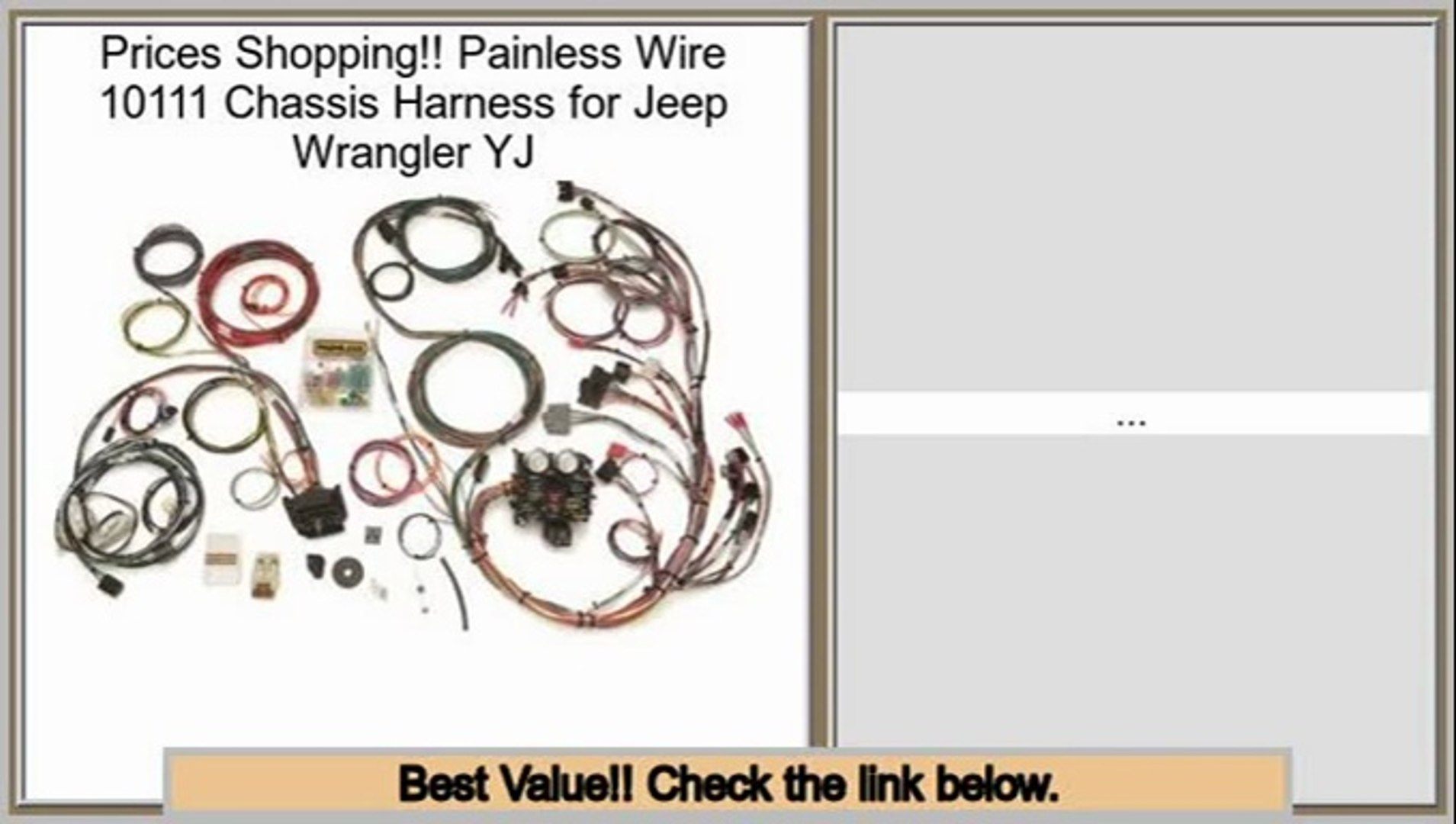 Reviews And Ratings Painless Wire 10111 Chis Harness for Jeep Wrangler on duraspark harness, 5 point harness, radio harness, 1972 chevy truck harness, ford 5.0 fuel injection harness, racing seat harness, dodge ram injector harness, electrical harness, horse team harness, painless fuse box, 5.3 vortec swap harness, bully dog harness, front lead dog harness, horse driving harness, fuel injector harness, painless engine harness, chevy tbi harness, rover series 3 diesel harness, car harness, indestructible dog harness,