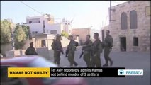 Israel admits Hamas not behind murder of 3 settlers