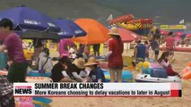 More Koreans choosing to delay vacations to later in August