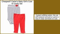 Review Price Carter's Baby Girl's Cute & Comfy Set